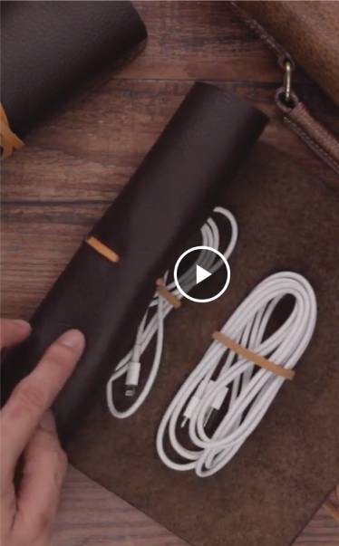 DIY Leather Cable Organizer